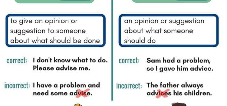Advice vs advise